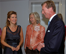 Anne-Sophie Mutter, Barbara François and Grand-Duke Henri of Luxembourg - Photo: Claude Sauber