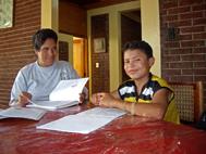 Luis Felipe studying (Photo: Gisella Evel Sarria)