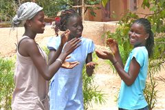 Young girls with SOS mother - photo: R. Fleischanderl