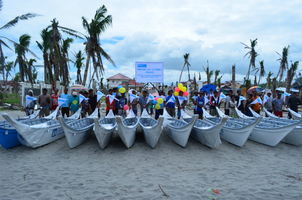 Eighteen fishing boats given to Philippine families