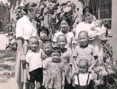 The first SOS family in Asia - photo: SOS Archives