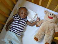 A baby boy is now able to sleep peacefully... (Photo: Claire Ladavicius)