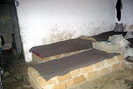 Beds in Liberia's orphanages made out of concrete, stones or bricks - Photo: SOS Archives