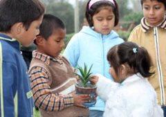 Children in the garden (photo: M. Obholzer)