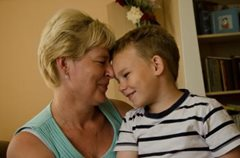 A little boy in our care enjoying a special moment with his SOS mother (photo: M.Mägi).