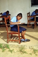 Pupils sitting through an exam (Photo: R. Wechselberger)