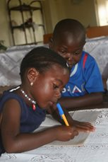 We provide schooling to local children, as well as those in our care (photo: SOS archives).