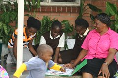 An SOS family from SOS Children's Village Kitwe (photo: SOS archives)