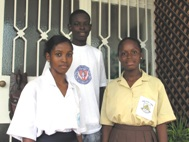 Fatou, Kitabu and Tina very content about their results (Photo: T. Kudadjie)