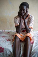 A young girl in our care dreams of peace in her country and of becoming a doctor (Photo: C. Ashleigh).