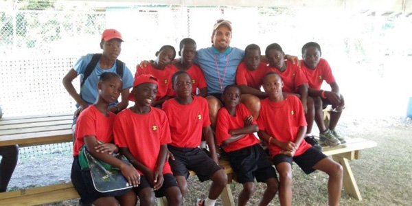 Coach Perceval during the SOS Rose Hall Soccer Camp in Jamaica in 2015. Photographer: SOS Archives