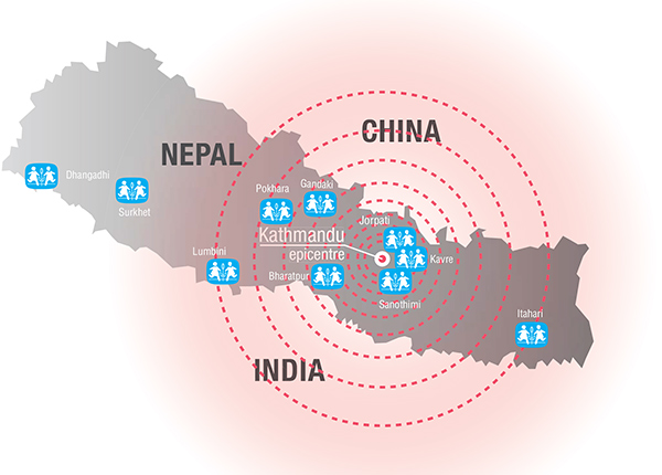 Area Affected by Nepal Earthquake Nepal Earthquake Affected