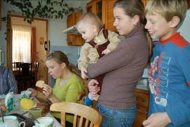 Family life in SOS Children's Village Borovljany - photo: Marko Mägi