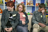 Young people at an informative meeting on Aids at the SOS Social Centre in Kiev/Ukraine - Photo: P. Lydén