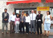 Christoph Selig, Senior Manager GoTeach DPDHL together with the DHL mentors and SOS mentees in Madagascar. Photo: DPDHL