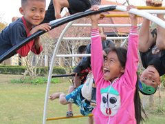 Children in our care grow up having fun with their brothers and sisters (photo: SOS archives).