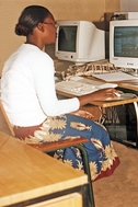 Thokozani busy studying (Photo: SOS Archives)