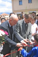 President Crvenkovski (right) and President Kutin at the ribbon-cutting ceremony - Photo: K. Ilievska