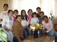 Maria Mercedes and her SOS family (Photo: SOS Archives)