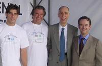 Juninho, Georg Rodenbach, senator Marco Maciel and Maurice van Heemstede, President of SOS Brazil - Photo: SOS Brazil