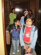 New kids visit their new house at SOS Children's Village Bogotá (Photo: SOS Archives)