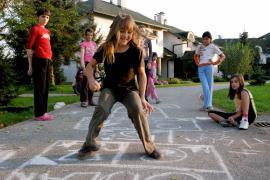 On the playground (photo: K. Ilievska)