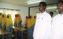 At the SOS nursing school in Mogadishu - Photo: H. Atkins