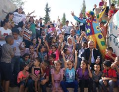 SOS Children's Village Bethlehem celebrates together (photo: SOS archives).