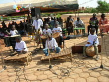 Impressive musical performance at the opening ceremony - Photo: N. Nabiré