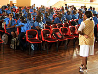 Assembly at the SOS College in Ghana - Photo: Marc Röhlig