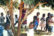 Kindergarten children singing and dancing (Photo: SOS Children's Village Malawi Archives)