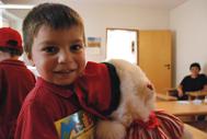 Paata with his favourite teddy bear (Photo: Katerina Ilievska)