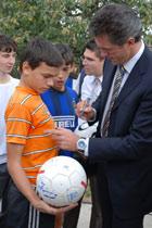 Gheorge Popescu at the SOS Children's Village in Bucharest - Photo: K. Ilievska