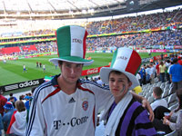 Children from SOS Children's Village Lippe at the match Italy vs Ghana - Photo: SOS Archives