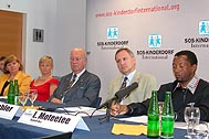 SOS Children's Village representatives from Venezuela, South Africa and Austria spoke at the press conference.