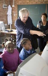 Henning Mankell experienced the work of SOS Children's Villages first-hand in Maputo - Photo: Björn Lindgren