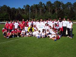 The Costa Rica national team - Photo: Hugh Linnehan