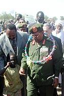 President Omar al-Bashir officially opening the village - Photo: M. Omar