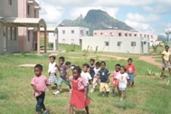 There is enough room to play in the spacious grounds of SOS Children's Village Bambous - Photo: SOS Archives