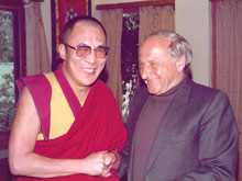 25 years ago: the 14th Dalai Lama and Hermann Gmeiner formed a friendship - Photo: A. Gabriel