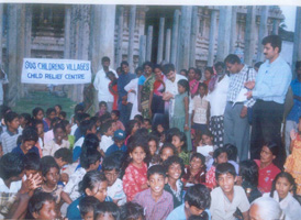 At an SOS Relief Camp in South India - Photo: SOS Archives