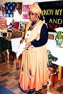 Mama Rose during her emphatic speech - Photo: B. Dimbleby