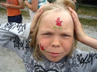 Mari had already done three laps with the pony and had had her face painted (Photo: M. Mägi)