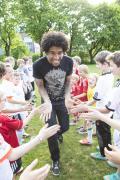 Bayern Munich defender Dante lending a hand to children @ P.Witmann