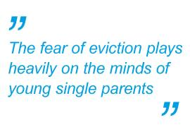 The fear of eviction plays heavily on the minds of young single parents in cities like Barcelona says SOS Children's Villages