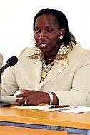 Minister of state Linah Jebii Kilimo at the workshop - Photo: H. Atkins