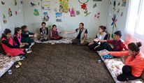 Trauma therapy helps children to work through the horrific experiences (Photo: Katharina Ebel)