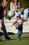 Little boy kicking the ball (Photo: Marko Mägi)
