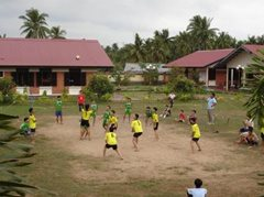 Children from the village playing sports (photo: SOS archives)