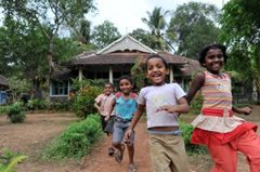 Children can enjoy a safe and healthy life in the care of SOS Children's Villages (photo: Picture Alliance F.May)